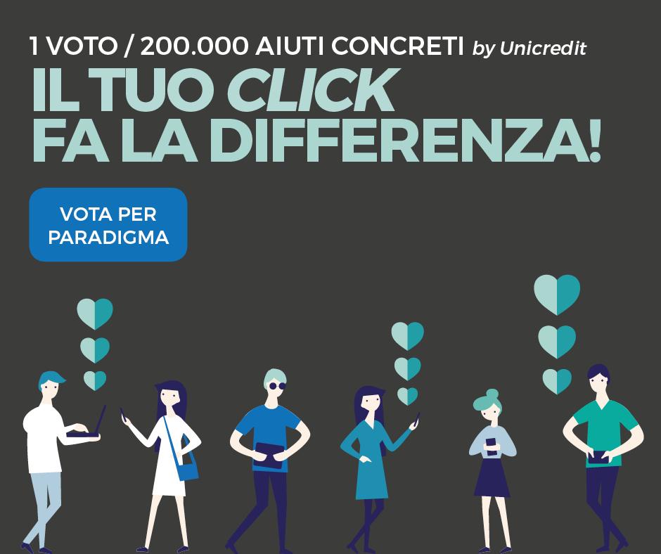 Il tuo CLICK fa la differenza: vota per Paradigma!