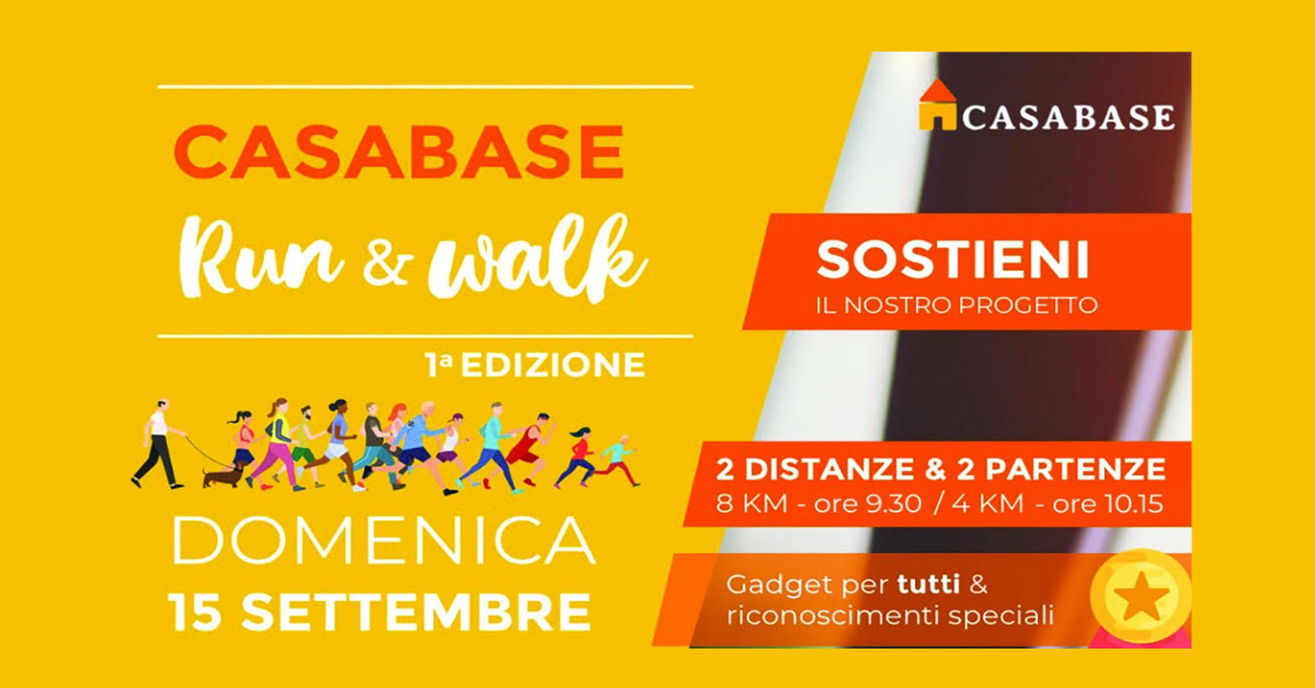 "15/09/2019: la prima ""Run & Walk"" per Casa Base Avigliana!"