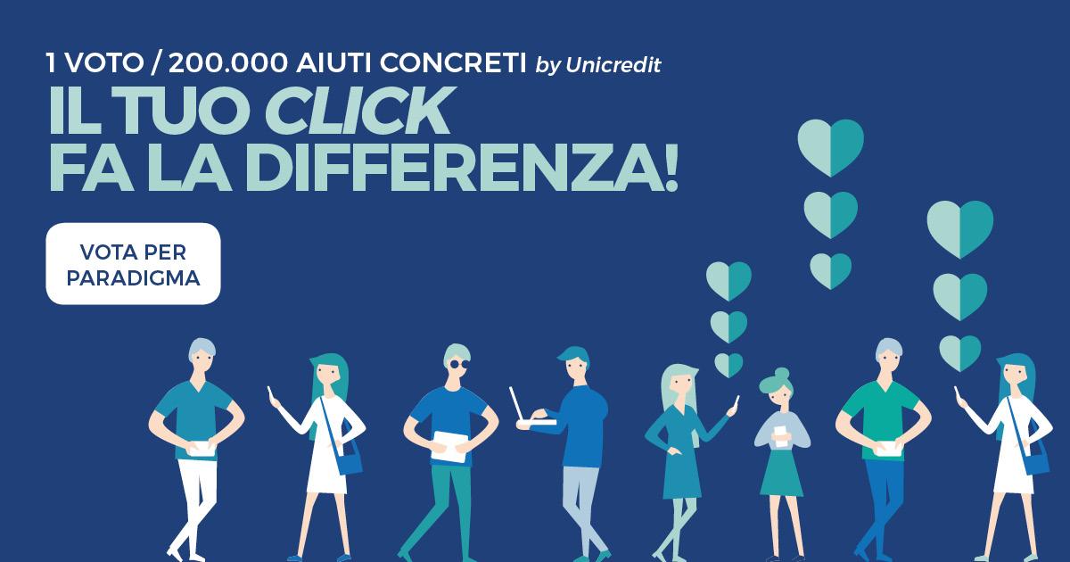 Click / Il Mio Dono 2020: vota per Paradigma!
